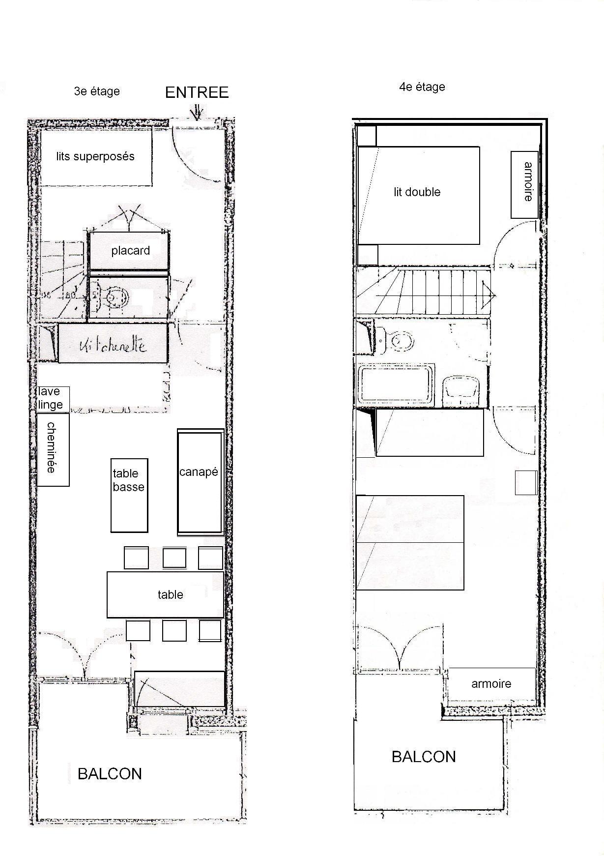 plan appartement 2 niveau